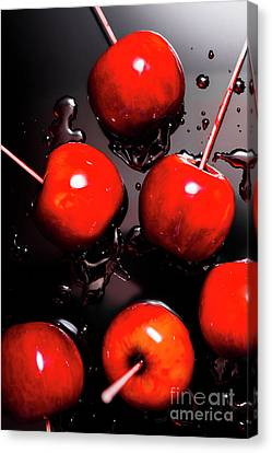 Red Candy Apples Or Apple Taffy Canvas Print by Jorgo Photography - Wall Art Gallery