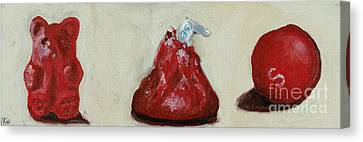 Red Candy Canvas Print by Robin Wiesneth