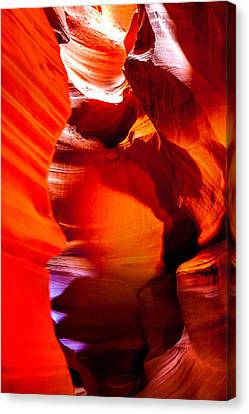 Red Canyon Walls Canvas Print by Az Jackson