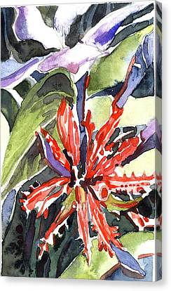 Red Cape Plumbago  Canvas Print by Mindy Newman
