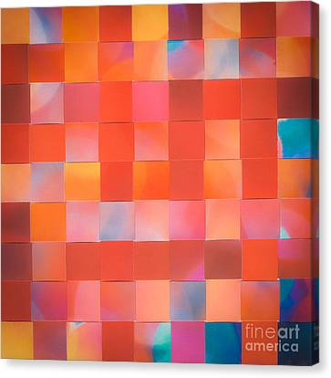 Canvas Print featuring the mixed media Red Check by Jan Bickerton