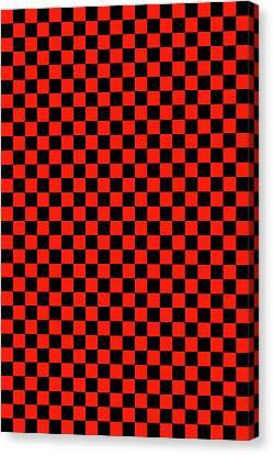 Red Checker Board Canvas Print by Daniel Hagerman