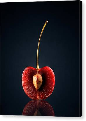 Red Cherry Still Life Canvas Print by Johan Swanepoel