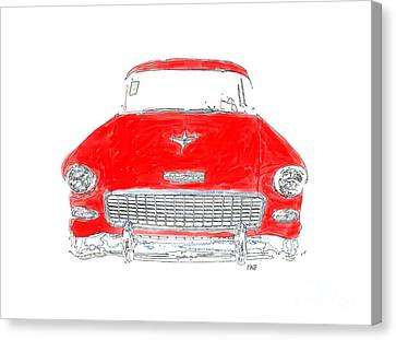 Red Chevy T-shirt Canvas Print by Edward Fielding