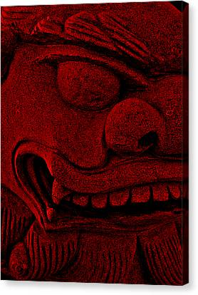 Red Chinese Dragon Canvas Print by Angelina Vick