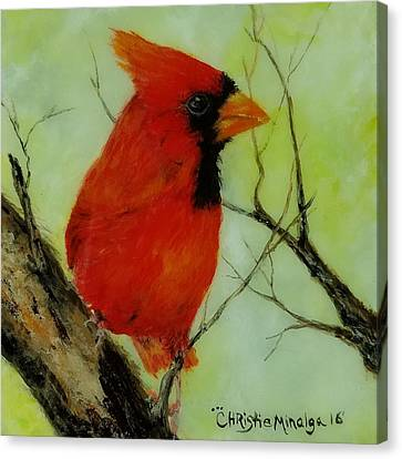 Canvas Print featuring the painting Red by Christie Minalga