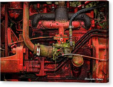 Canvas Print featuring the photograph Red by Christopher Holmes