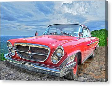 Red Chrysler 300 Canvas Print by Susan Leggett