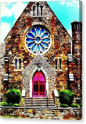 Red Church Door Bethlehem Pa Canvas Print