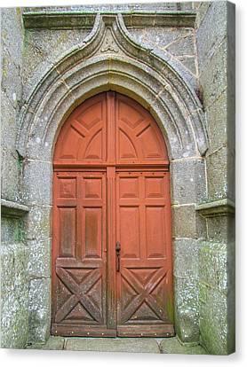Red Church Door IIi Canvas Print by Helen Northcott