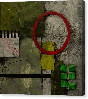 Red Circle No.1 Canvas Print by Laura  Lein-Svencner