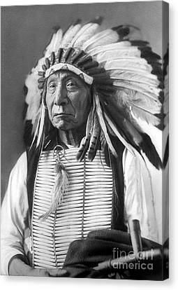 Red Cloud, Dakota Chief, Wearing A Headdress, 1880s Canvas Print by David Frances Barry