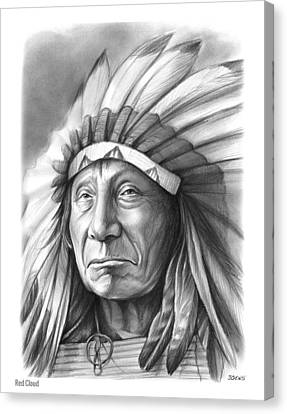 Red Cloud Canvas Print by Greg Joens