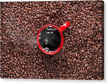 Red Coffee Cup Canvas Print