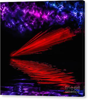 Red Comet Canvas Print by Naomi Burgess