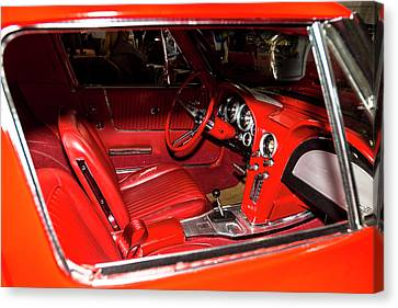 Red Corvette Stingray Canvas Print by Amyn Nasser
