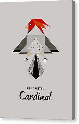 Red-crested Cardinal Minimalist Canvas Print