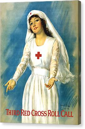 Red Cross Nurse - Ww1 Canvas Print by War Is Hell Store