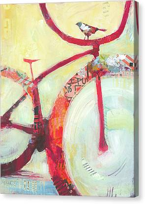 Red Cruiser And Bird Canvas Print