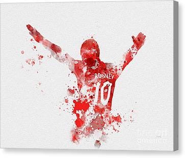 Wayne Rooney Canvas Print - Red Devil by Rebecca Jenkins