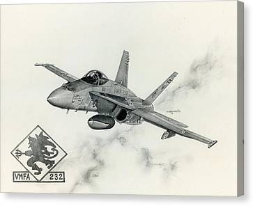 F-18 Canvas Print - Red Devils by Mark Jennings