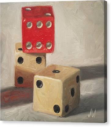 Red Die Canvas Print by Joe Winkler