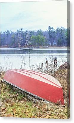 Red Dingy Canvas Print by Edward Fielding