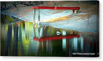 Red Dock Canvas Print