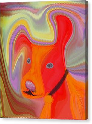 Red Dog Canvas Print by Ruth Palmer