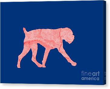 Red Dog Tee Canvas Print by Edward Fielding