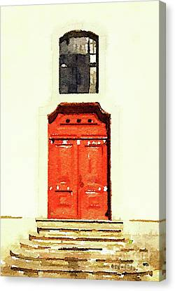 Red Door Canvas Print by Anita Van Den Broek