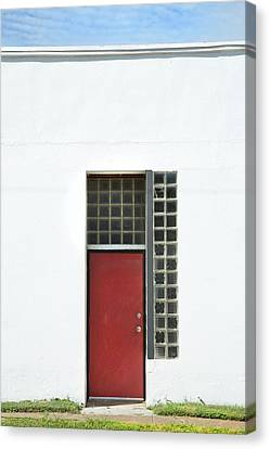 Canvas Print - Red Door Blue Sky Green Grass by Ross Odom