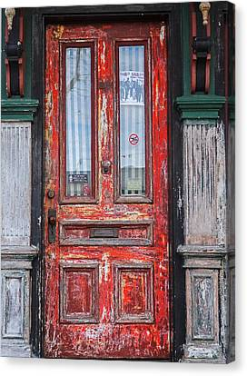 Red Door In Portsmouth Nh Canvas Print