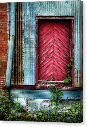 Canvas Print featuring the photograph Red Door by James Barber