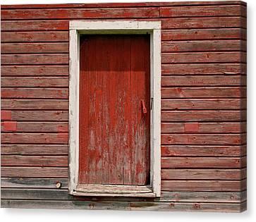Red Door Canvas Print by Odd Jeppesen