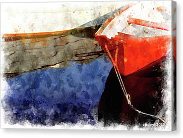 Red Dory Canvas Print by Peter J Sucy