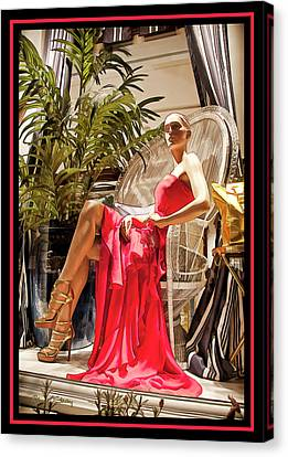 Canvas Print featuring the photograph Red Dress - Chuck Staley by Chuck Staley