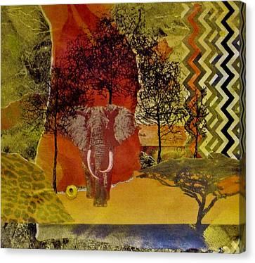 Red Elephant Canvas Print by David Raderstorf