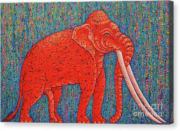 Red Elephant  Canvas Print by Opas Chotiphantawanon
