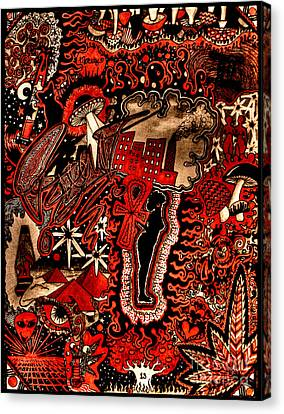 Red Existence Canvas Print