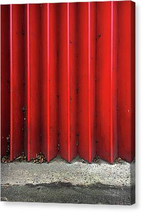 Red Expanding Metal Canvas Print by Tom Gowanlock