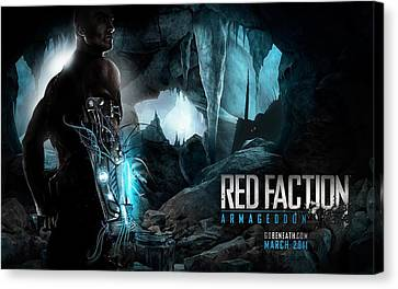 Red Faction Armageddon Game Canvas Print by F S