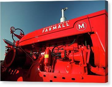 Red Farmall M Canvas Print by Todd Klassy