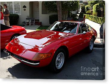 Red Ferrari Daytona . 40d9356 Canvas Print by Wingsdomain Art and Photography