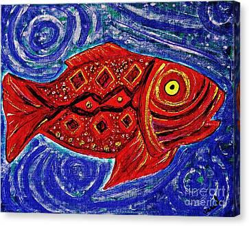 Red Fish Canvas Print by Sarah Loft