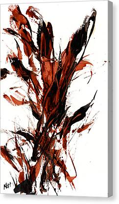 Red Flame 66.121410 Canvas Print by Kris Haas