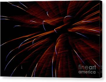 Red Flare Canvas Print by Jeannie Burleson