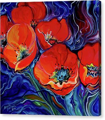 Canvas Print - Red Floral Abstract by Marcia Baldwin