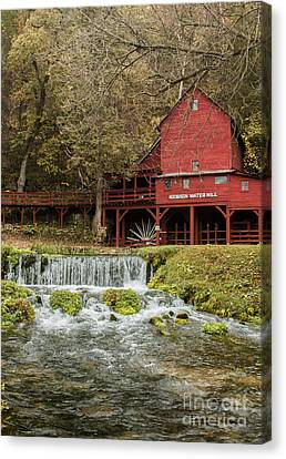 Red Flour Mill Canvas Print by Robert Frederick