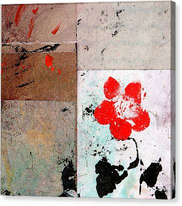 Canvas Print featuring the painting Red Flower by Carolyn Repka
